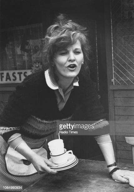 Actress Sandy Ratcliff in a scene from the television soap opera 'EastEnders' November 21st 1984