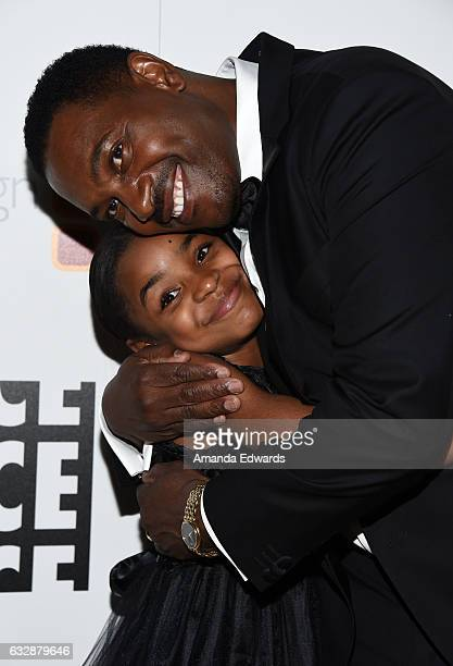Actress Saniyya Sidney and actor Mykelti Williamson arrive at the 67th Annual ACE Eddie Awards at The Beverly Hilton Hotel on January 27, 2017 in...