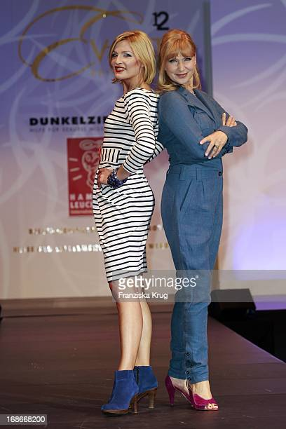 Actress Sanna Englund Sabine Kaack modeling for a good cause at The Event Prominent fashion show at the Grand Elysée in Hamburg
