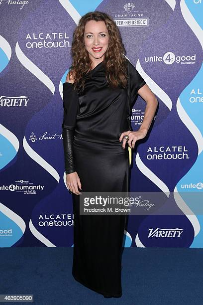 Actress Sanny Van Heteren attends the 2nd Annual unite4humanity Presented By ALCATEL ONETOUCH at the Beverly Hilton Hotel on February 19 2015 in Los...