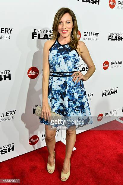 Actress Sanny Van Heteren attends the launch of the Flash by Lenny Kravitz photo exhibit at the Leica Gallery on March 5 2015 in Los Angeles...