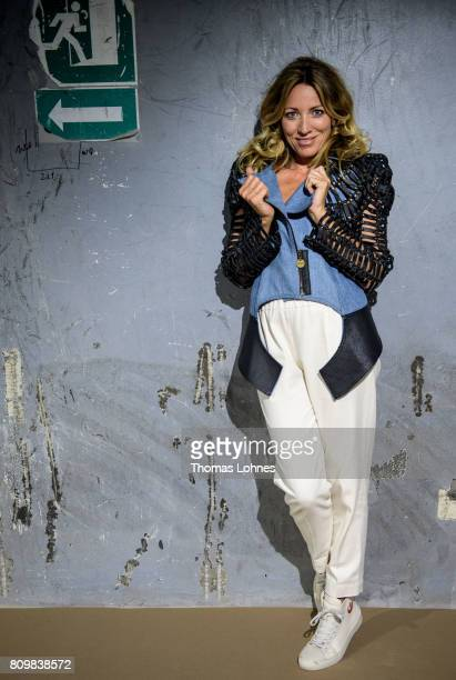 Actress Sanny van Heteren dressed with a jacket by the designer Karen Jessen and pants by 'Philomena Zanetti' pictured at Greenshowroom / Ethical...