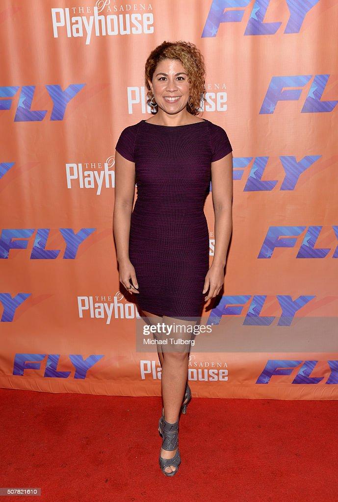 Actress Santana Dempsey attends the opening night of the play 'Fly' at Pasadena Playhouse on January 31, 2016 in Pasadena, California.