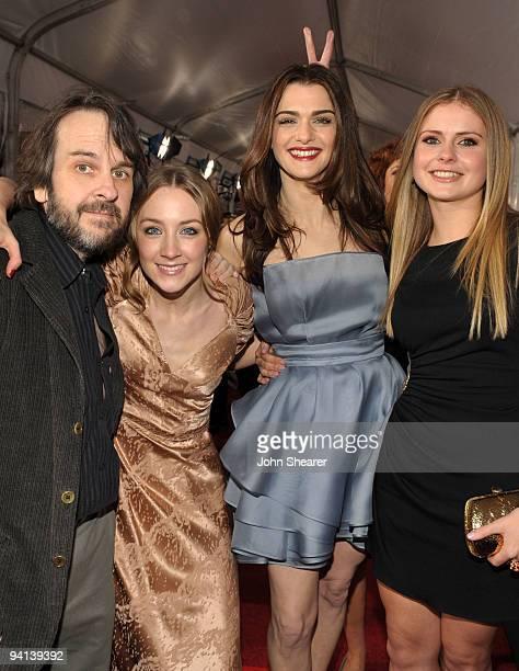 Actress Saoirse Ronan actress Rachel Weisz director Peter Jackson actress Susan Sarandon and actress Rose McIver arrive at the premiere of Paramount...