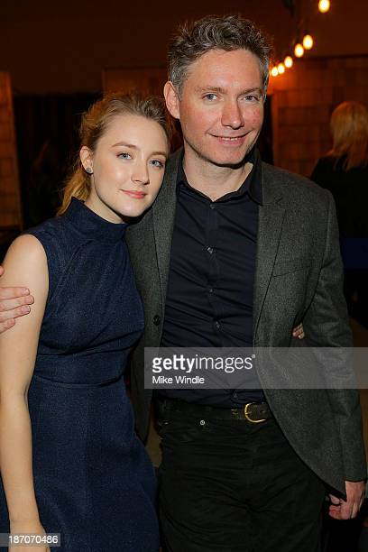 Actress Saoirse Ronan and director Kevin Macdonald attend the premiere of Magnolia Pictures' How I Live Now after party on November 5 2013 in...