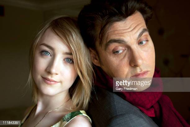 Actress Saoirse Ronan and film director Joe Wright are photographed for Los Angeles Times on March 27 2011 in Los Angeles California CREDIT MUST READ...