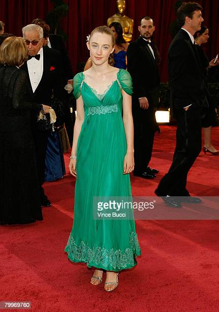 Actress Saoirse Ronan arrive at the 80th Annual Academy Awards held at the Kodak Theatre on February 24 2008 in Hollywood California