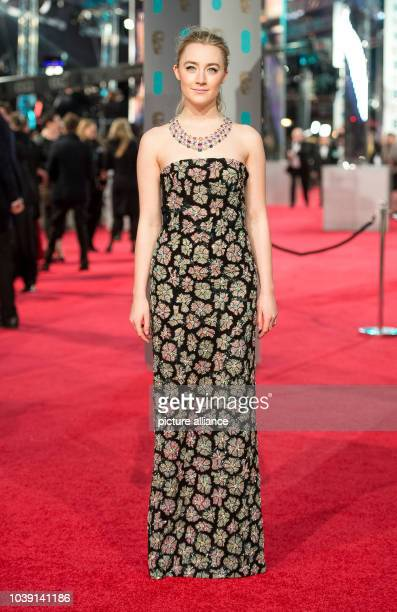 Actress Saoirse Ronan arrives at the EE British Academy Film Awards BAFTA Awards at the Royal Opera House in London England on 14 February 2016 Photo...