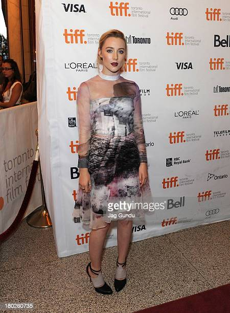 Actress Saoirse Ronan arrives at the How I Live Now Premiere during the 2013 Toronto International Film Festival at Winter Garden Theatre on...