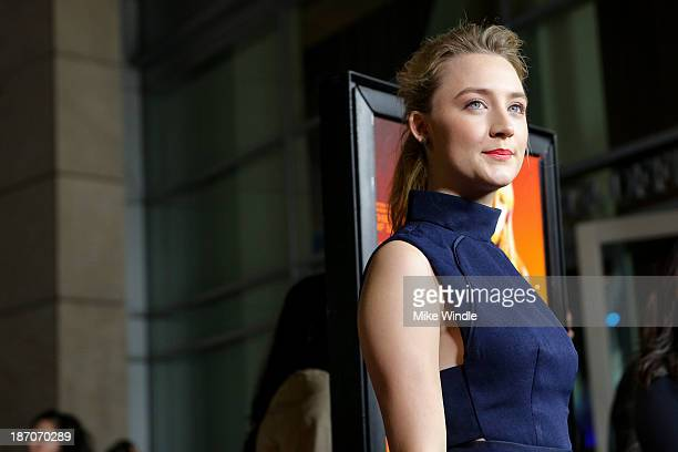 Actress Saoirse Ronan arrives at the premiere of Magnolia Pictures' How I Live Now at ArcLight Hollywood on November 5 2013 in Hollywood California