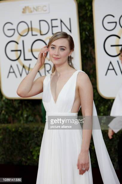 Actress Saoirse Ronan arrives for the 73rd Annual Golden Globe Awards at the Beverly Hilton Hotel in Beverly Hills California USA 10 January 2016...