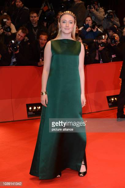 Actress Saoirse Ronan arrives for the premiere of 'The Grand Budapest Hotel' during the 64th annual Berlin Film Festival in Berlin Germany 06...