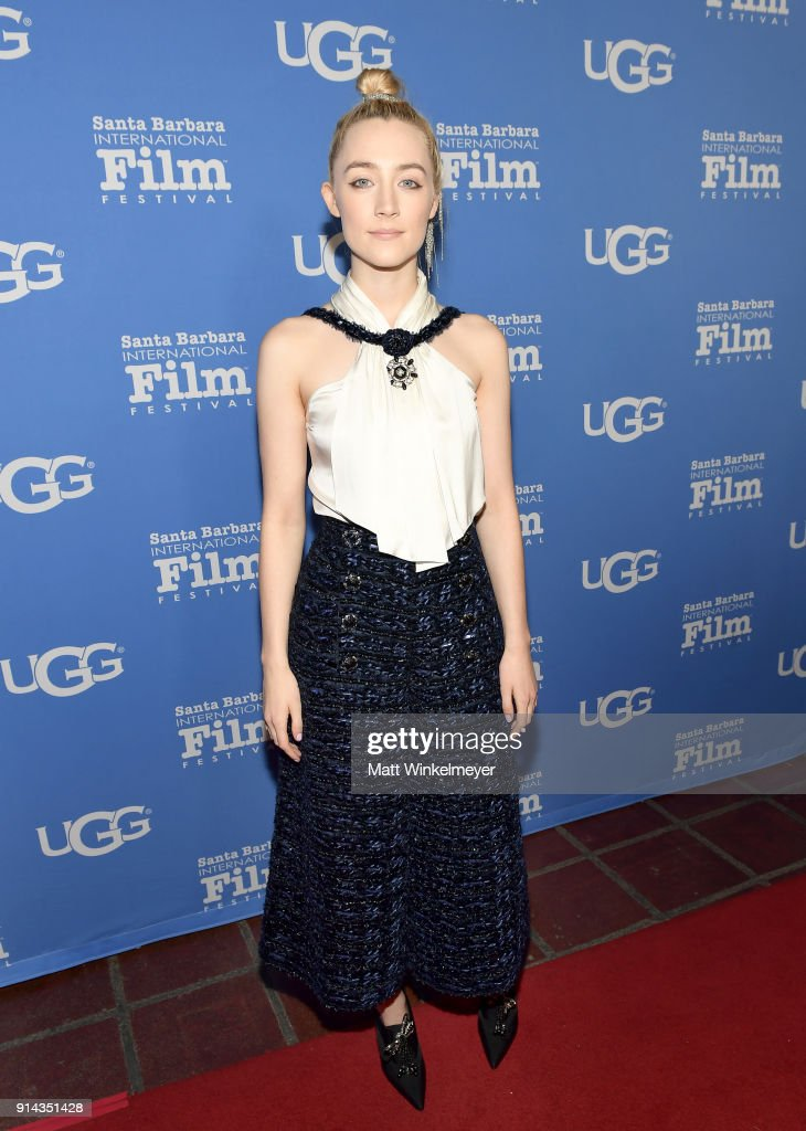 Actress Saoirse Ronan at the Santa Barbara Award Honoring Saoirse Ronan Presented By UGG during The 33rd Santa Barbara International Film Festival at Arlington Theatre on February 4, 2018 in Santa Barbara, California.