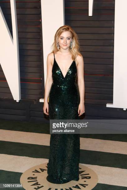 Actress Saoirse Ronan attending the Vanity Fair Oscar Party at Wallis Annenberg Center for the Performing Arts in Beverly Hills Los Angeles US 28...
