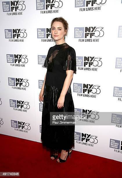 Actress Saoirse Ronan attends 53rd New York Film Festival premiere of 'Brooklyn' at Alice Tully Hall Lincoln Center on October 7 2015 in New York City