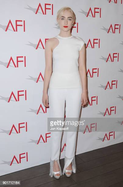 Actress Saoirse Ronan attends the 18th Annual AFI Awards at the Four Seasons Hotel on January 5 2018 in Los Angeles California