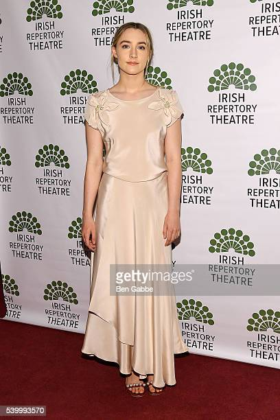 Actress Saoirse Ronan attends the 2016 Irish Repertory Theatre Gala Benefit of Finian's Rainbow In Concert at Town Hall on June 13 2016 in New York...