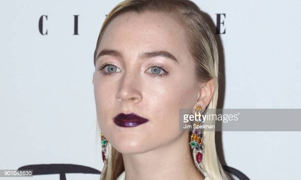 Actress Saoirse Ronan attends the 2017 New York Film Critics Awards at TAO Downtown on January 3 2018 in New York City