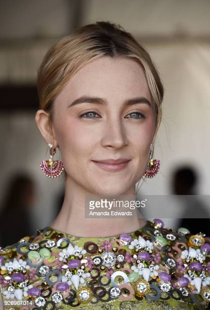 Actress Saoirse Ronan attends the 2018 Film Independent Spirit Awards on March 3 2018 in Santa Monica California