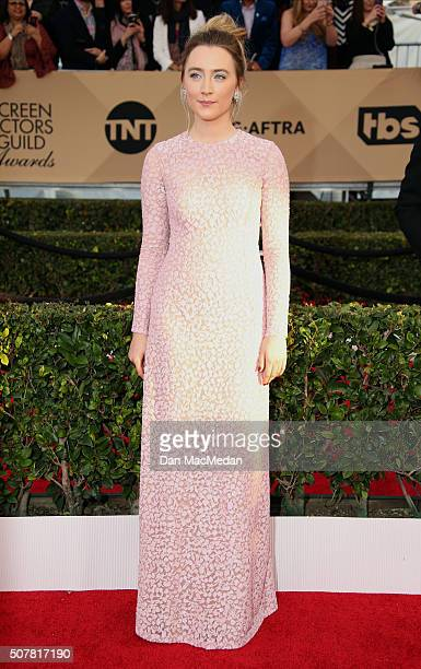 Actress Saoirse Ronan attends the 22nd Annual Screen Actors Guild Awards at The Shrine Auditorium on January 30 2016 in Los Angeles California