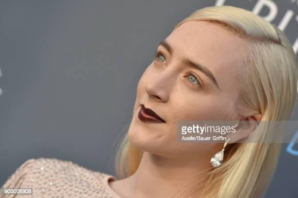 Actress Saoirse Ronan attends the 23rd Annual Critics' Choice Awards at Barker Hangar on January 11 2018 in Santa Monica California