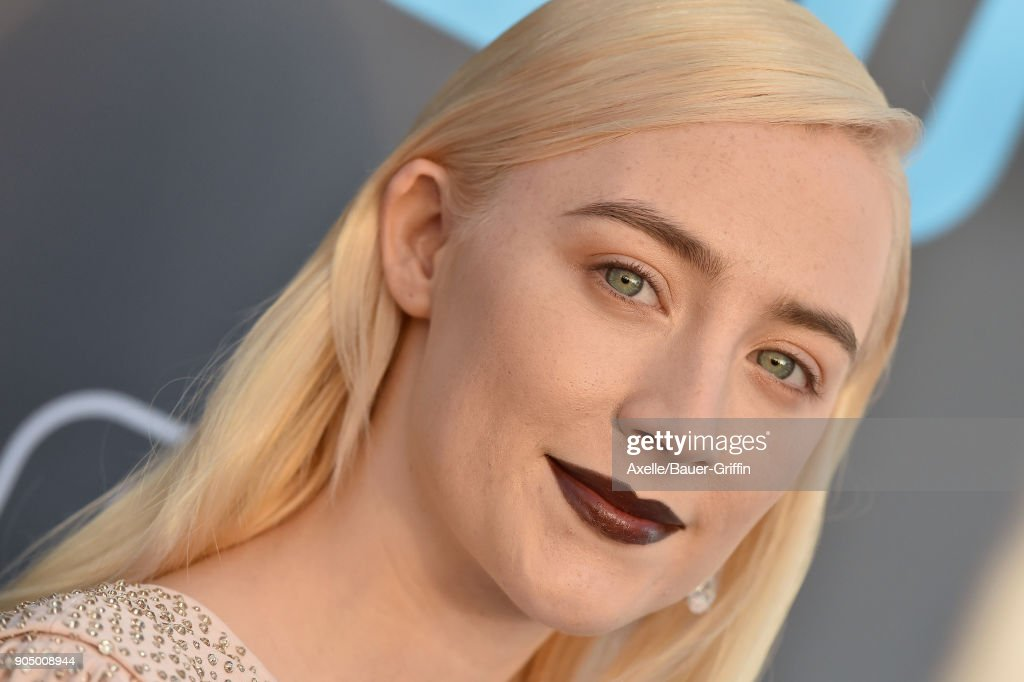 Actress Saoirse Ronan attends the 23rd Annual Critics' Choice Awards at Barker Hangar on January 11, 2018 in Santa Monica, California.