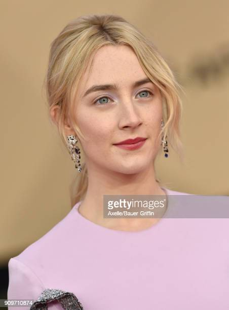 Actress Saoirse Ronan attends the 24th Annual Screen Actors Guild Awards at The Shrine Auditorium on January 21 2018 in Los Angeles California