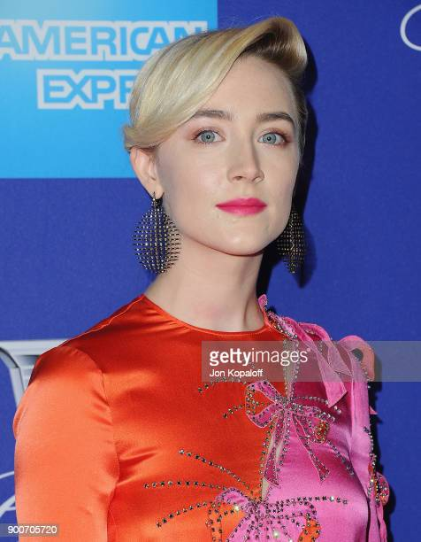 Actress Saoirse Ronan attends the 29th Annual Palm Springs International Film Festival Awards Gala at Palm Springs Convention Center on January 2...