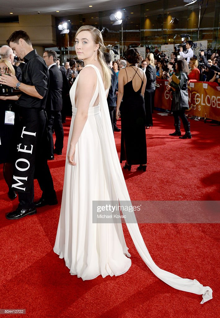 Moet & Chandon At The 73rd Annual Golden Globe Awards - Red Carpet : News Photo