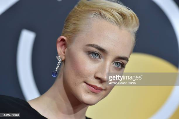 Actress Saoirse Ronan attends the 75th Annual Golden Globe Awards at The Beverly Hilton Hotel on January 7 2018 in Beverly Hills California