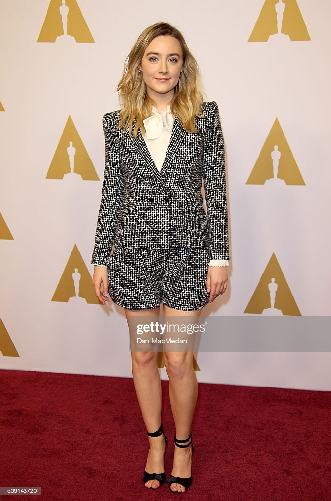 Actress Saoirse Ronan attends the 88th Annual Academy Awards Nominee Luncheon in Beverly Hills, California.
