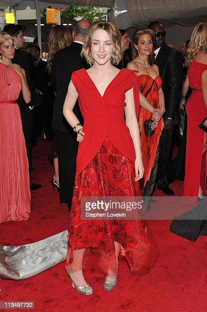 Actress Saoirse Ronan attends the Alexander McQueen Savage Beauty Costume Institute Gala at The Metropolitan Museum of Art on May 2 2011 in New York...