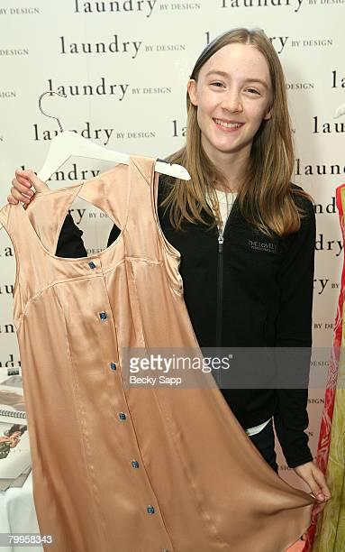 Actress Saoirse Ronan attends The Belvedere Luxury Lounge in honor of the 80th Academy Awards featuring Laundry by Design held at the Four Seasons...