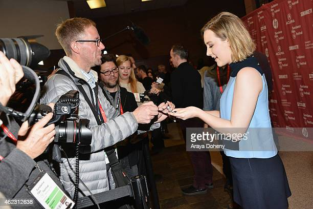 Actress Saoirse Ronan attends the Brooklyn Premiere during the 2015 Sundance Film Festival on January 26 2015 in Park City Utah