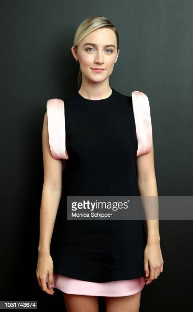 Actress Saoirse Ronan attends the Calvin Klein Collection fashion show at New York Stock Exchange on September 11 2018 in New York City