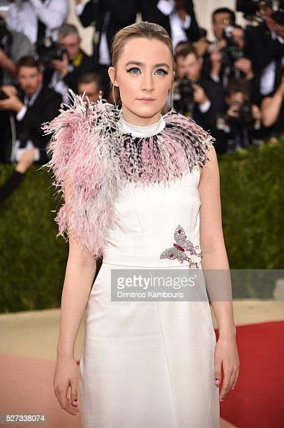 """Actress Saoirse Ronan attends the """"Manus x Machina: Fashion In An Age Of Technology"""" Costume Institute Gala at Metropolitan Museum of Art on May 2,..."""