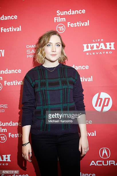"""Actress Saoirse Ronan attends the """"Stockholm, Pennsylvania"""" premiere at the 2015 Sundance Film Festival"""