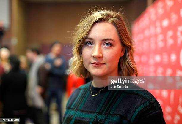 Actress Saoirse Ronan attends the Stockholm Pennylvania Premiere during the 2015 Sundance Film Festival at the Eccles Center Theatre on January 23...