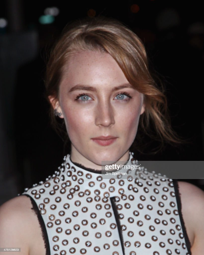 Actress Saoirse Ronan attends the 'The Grand Budapest Hotel' New York Premiere at Alice Tully Hall on February 26, 2014 in New York City.