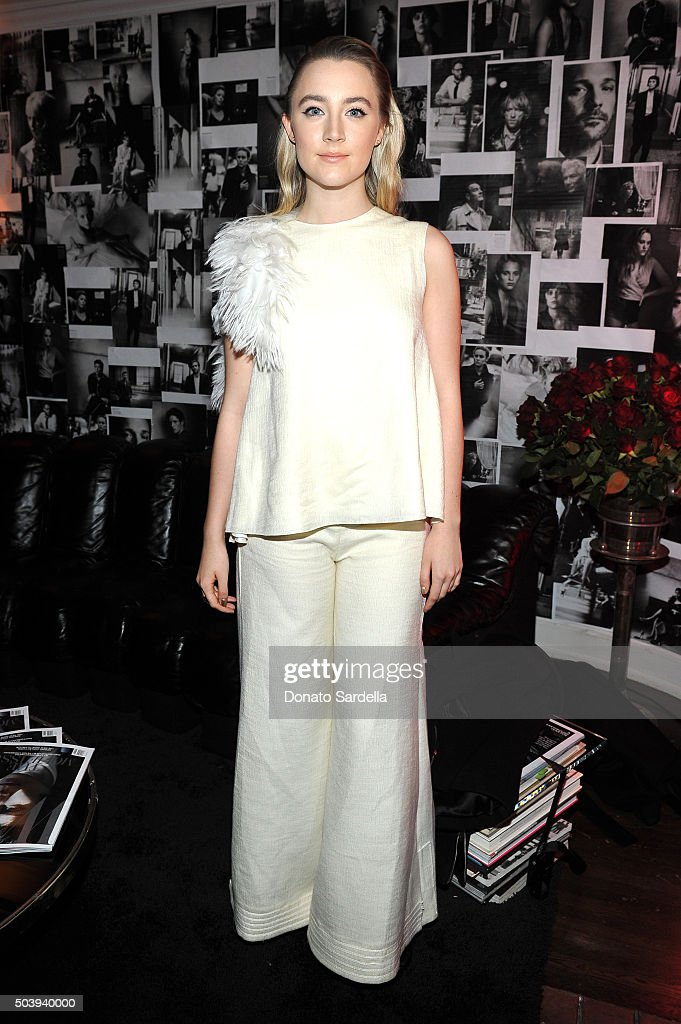 Actress Saoirse Ronan attends the W Magazine celebration of the 'Best Performances' Portfolio and The Golden Globes with Audi and Dom Perignon at Chateau Marmont on January 7, 2016 in Los Angeles, California.