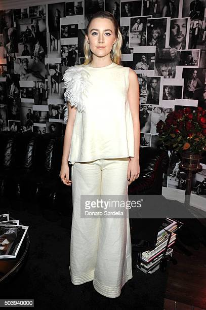 Actress Saoirse Ronan attends the W Magazine celebration of the 'Best Performances' Portfolio and The Golden Globes with Audi and Dom Perignon at...