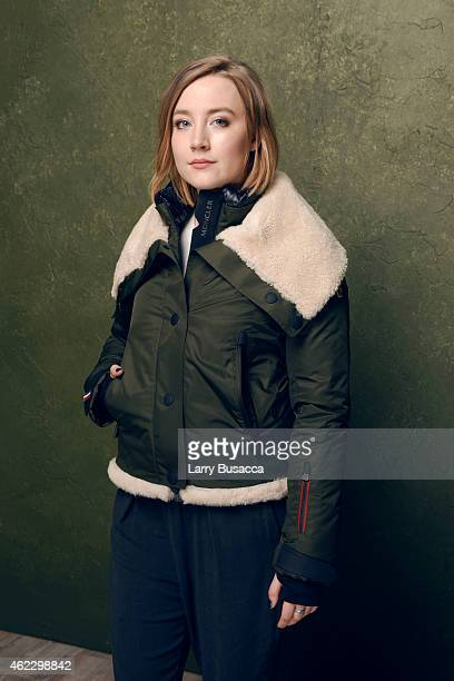 Actress Saoirse Ronan of Brooklyn poses for a portrait at the Village at the Lift Presented by McDonald's McCafe during the 2015 Sundance Film...