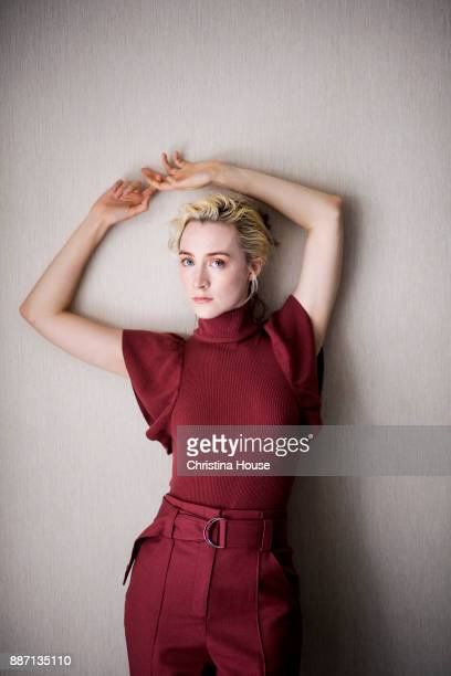 Actress Saoirse Ronan of 'Ladybird' is photographed for Los Angeles Times on November 17 2017 in Los Angeles California