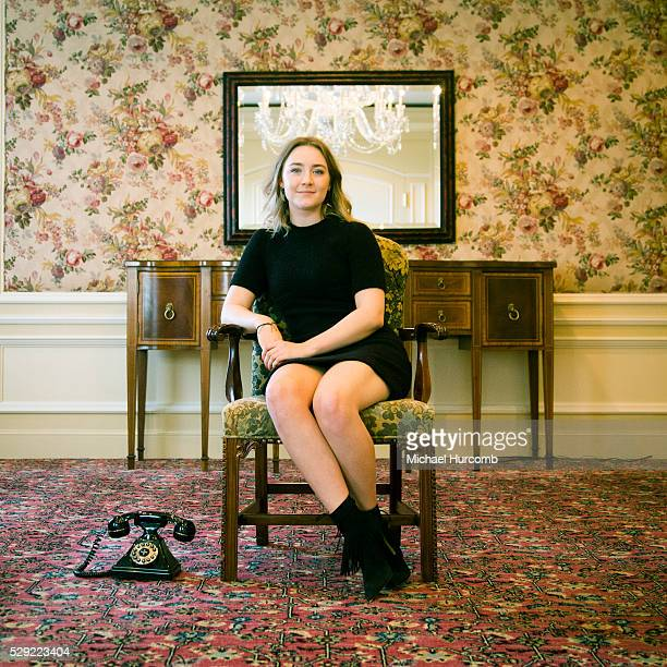 Actress Saoirse Ronan poses for a photo while promoting the film Brooklynat the 2015 Toronto International Film Festival