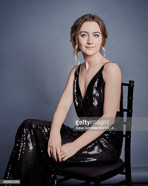 Actress Saoirse Ronan poses for a portrait at the 2015 BAFTA Britannia Awards Portraits on October 30 2015 at the Beverly Hilton Hotel in Beverly...