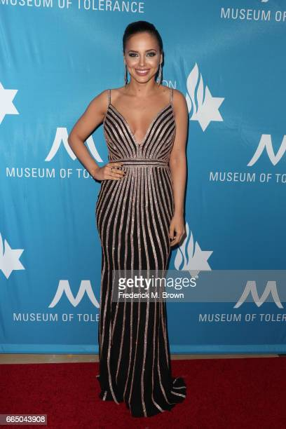 Actress Sapir Azulay attends The Simon Wiesenthal Center's 2017 National Tribute Dinner at The Beverly Hilton Hotel on April 5 2017 in Beverly Hills...