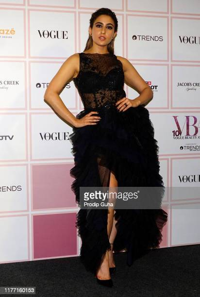 Actress Sara ali Khan attends the Vogue Beauty Awards 2019 on September 25 2019 in Mumbai India