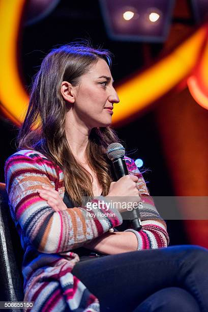 Actress Sara Bareilles attends BroadwayCon 2016 at the New York Hilton Midtown on January 24, 2016 in New York City.