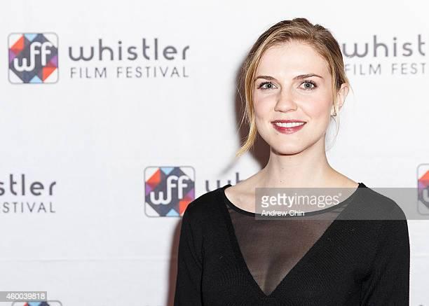 Actress Sara Canning arrives at 'Spotlight On Sarah Gadon' at Whistler Film Festival on December 5 2014 in Whistler Canada