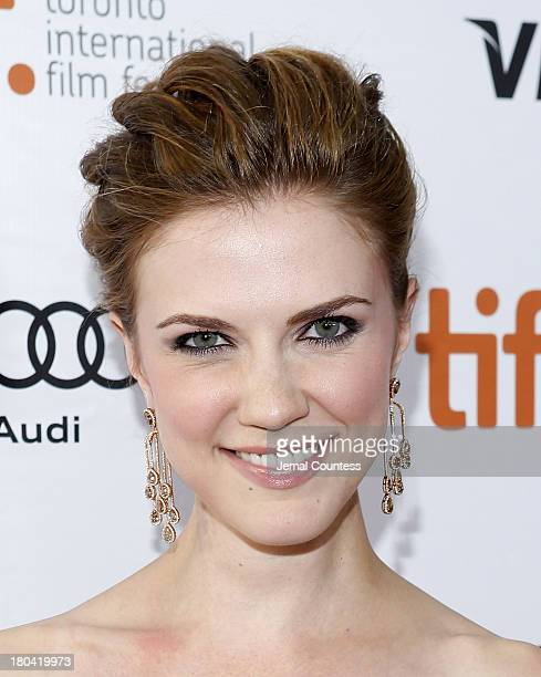 Actress Sara Canning arrives at The Right Kind Of Wrong Premiere during the 2013 Toronto International Film Festival at Roy Thomson Hall on September...